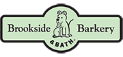 The logo for Brookside Barkery & Bath