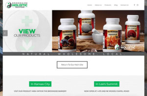 The homepage of Brookside Holistic Solutions