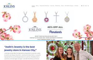 The front page of Joslin's Jewelry