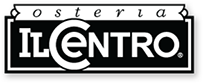 The logo for Osteria Il Centro