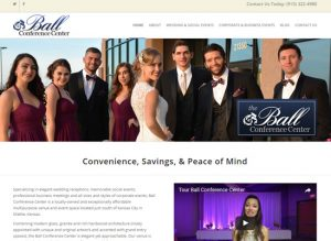 The home page website of Ball Conference Center