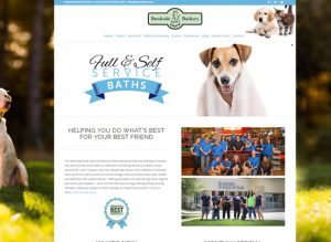 The website for Brookside Barkery and Bath