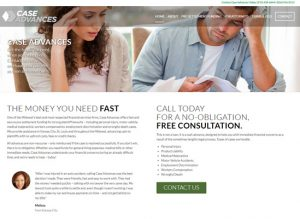 The home page for Case Advances website