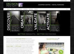 The website home page for Decision Insight
