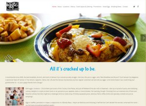 The home page website of Eggtc KC
